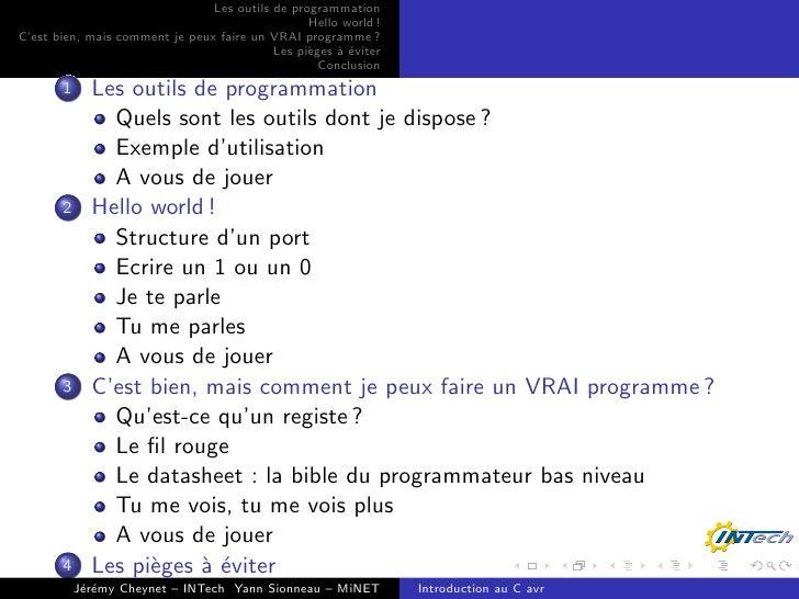 Programmation C pour AVR 8 bits Slide 2