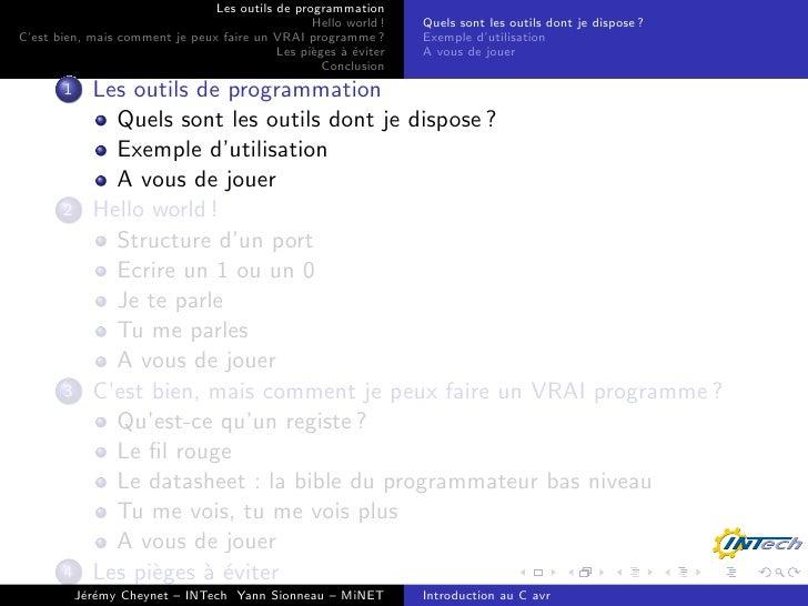Programmation C pour AVR 8 bits Slide 3