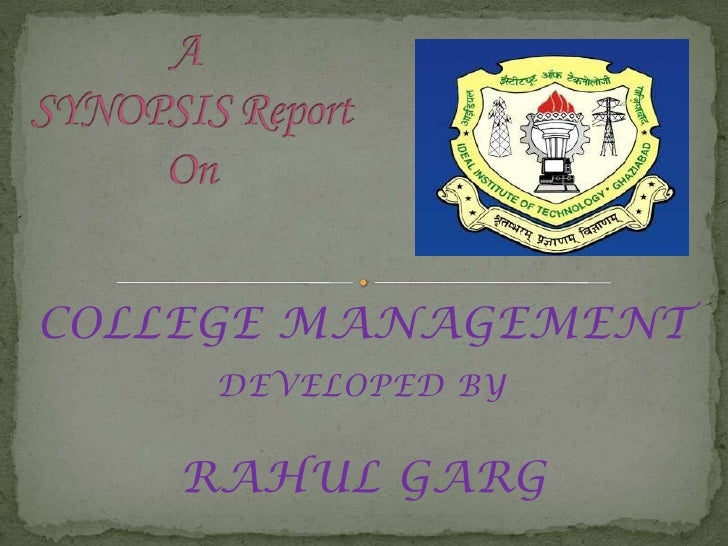 COLLEGE MANAGEMENT    DEVELOPED BY   RAHUL GARG
