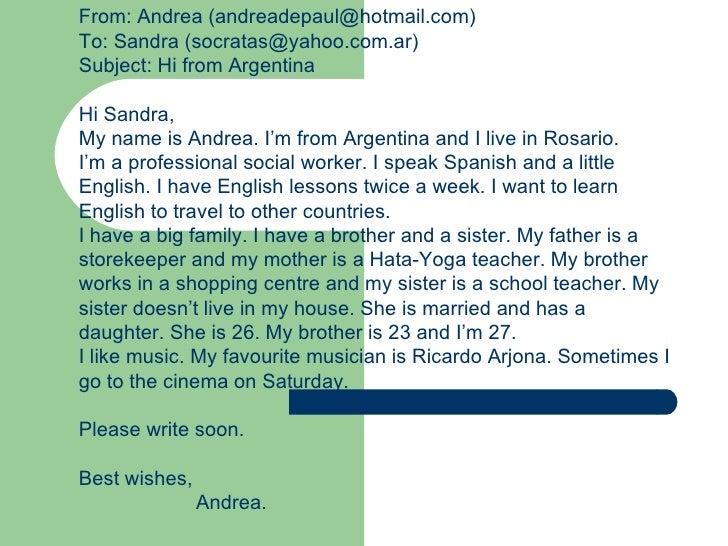 Write an e-mail to your teacher.