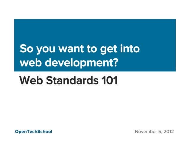 Web Standards 101