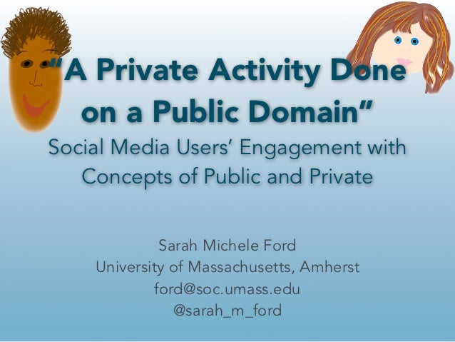 """""""A Private Activity Done  on a Public Domain""""Social Media Users' Engagement with   Concepts of Public and Private         ..."""
