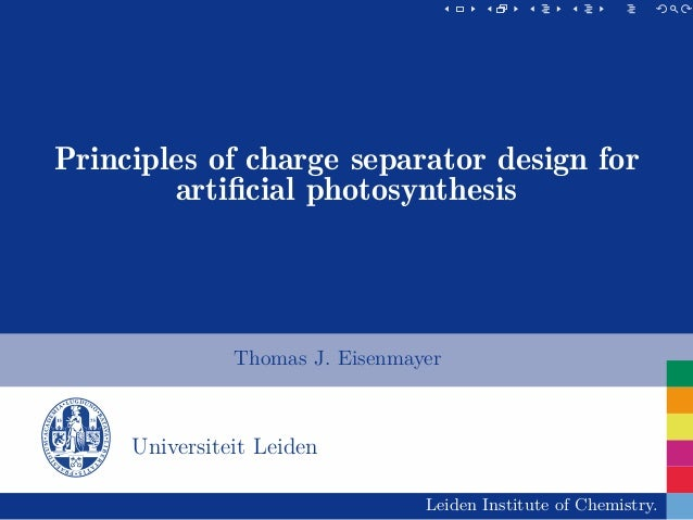 Principles of charge separator design for artificial photosynthesis                                                        ...