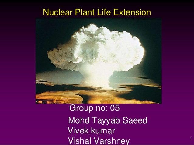 Nuclear Plant Life Extension      Group no: 05      Mohd Tayyab Saeed      Vivek kumar                               1    ...