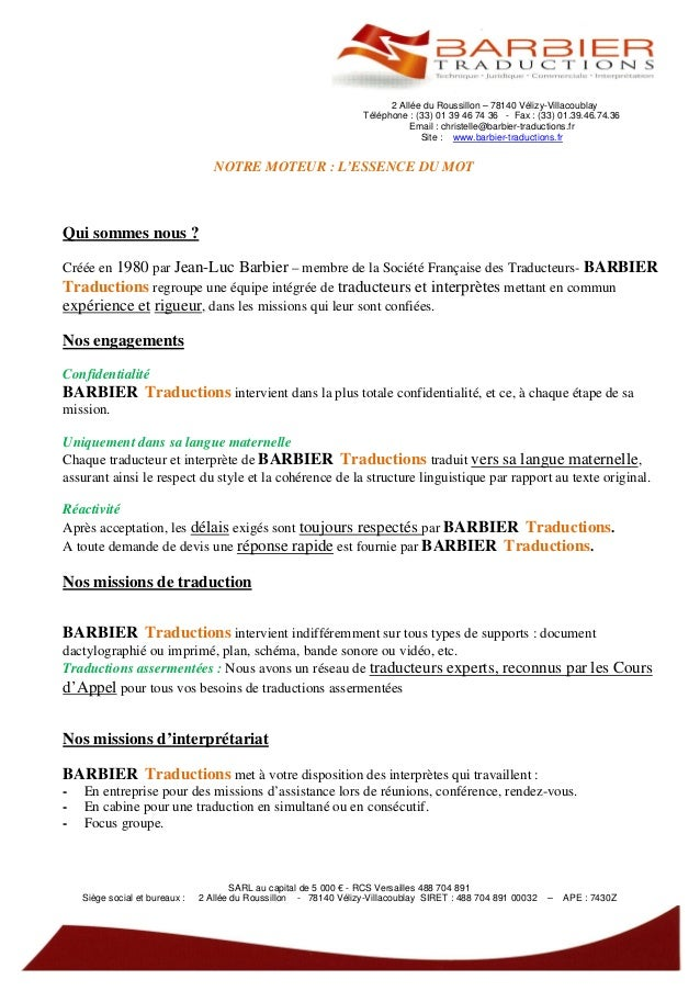 2 Allée du Roussillon – 78140 Vélizy-Villacoublay                                                                    Télép...