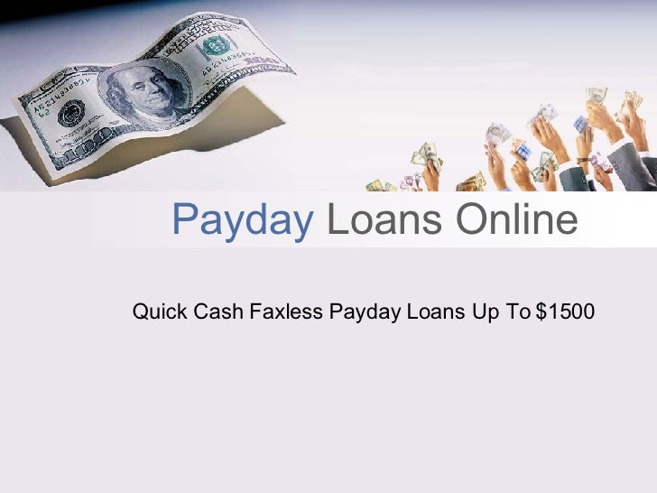 Payday Loans Online Up To $1500