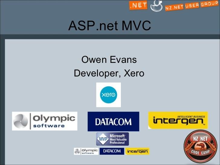 ASP.net MVC Owen Evans Developer, Xero