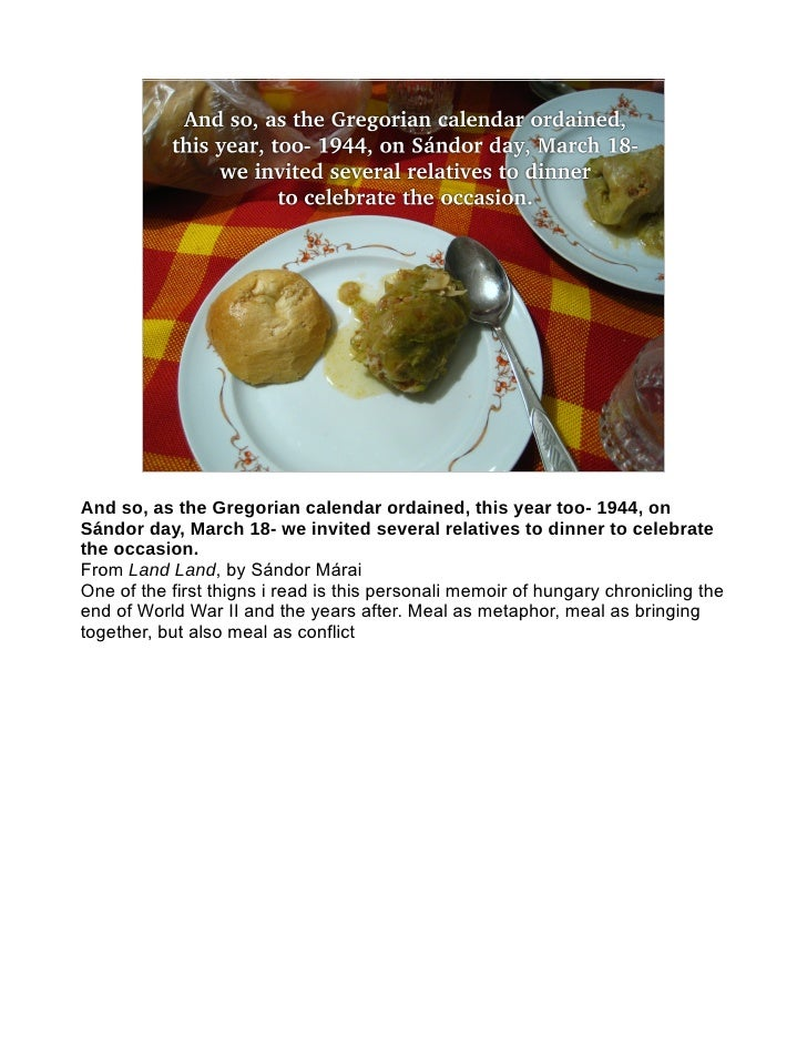 Additives, Preservatives, Sweeteners: Hungarian Food in Literature and Culture
