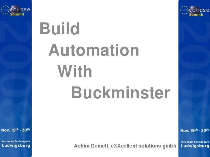 Build Automation With Buckminster