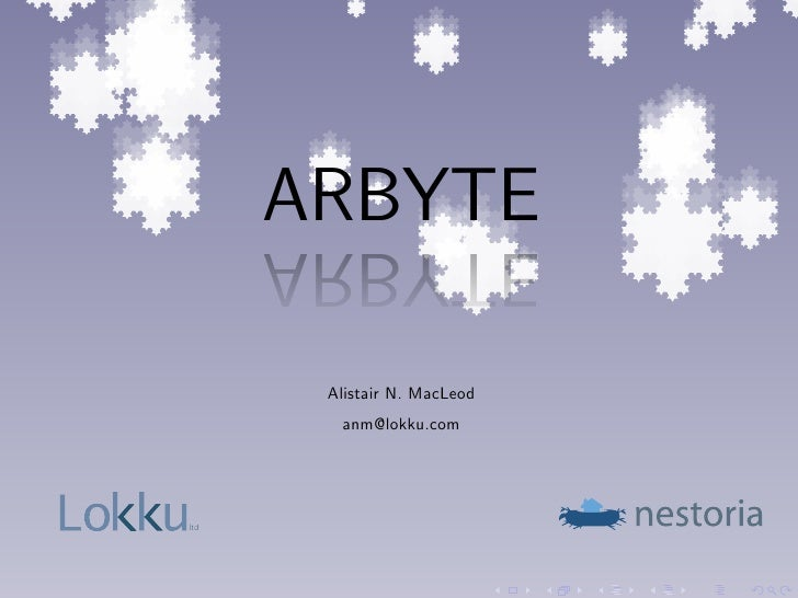 ARBYTE       ETYBRA        Alistair N. MacLeod         anm@lokku.com     ltd