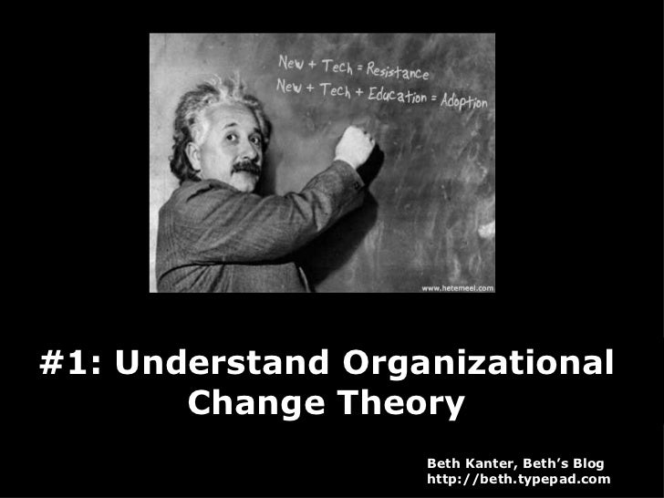 #1: Understand Organizational  Change Theory  Beth Kanter, Beth's Blog http://beth.typepad.com