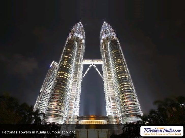 Petronas Towers in Kuala Lumpur at Night