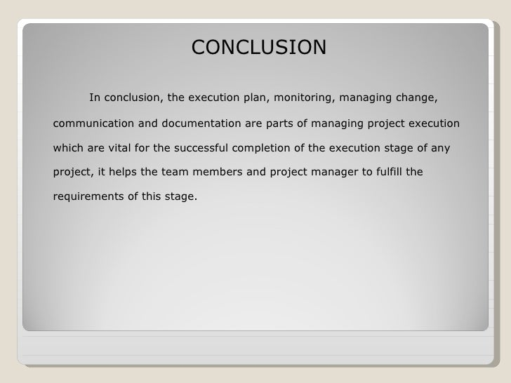 Conclusion on operation management