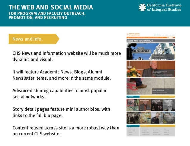 The Web and Social Media for Program/Faculty Outreach Slide 3