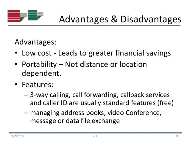 advantages and disadvantages of voip Voip
