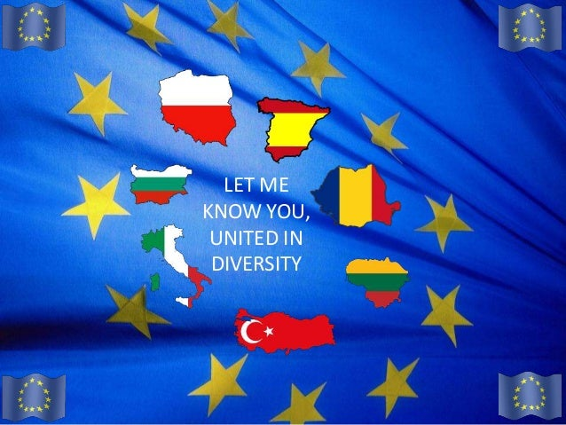 LET MEKNOW YOU, UNITED IN DIVERSITY