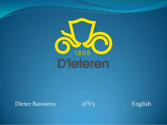 Dieter Bauwens   2FV5   English