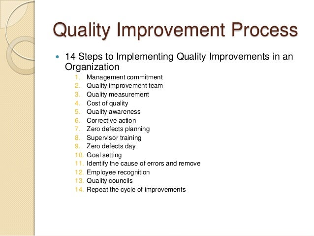 crosby 14 steps to quality improvement