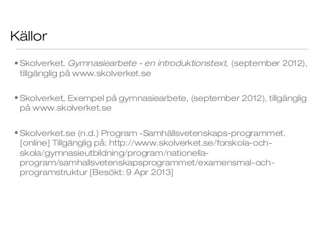 gymnasiearbete rapport mall