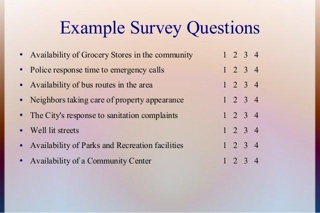Community gambling survey.