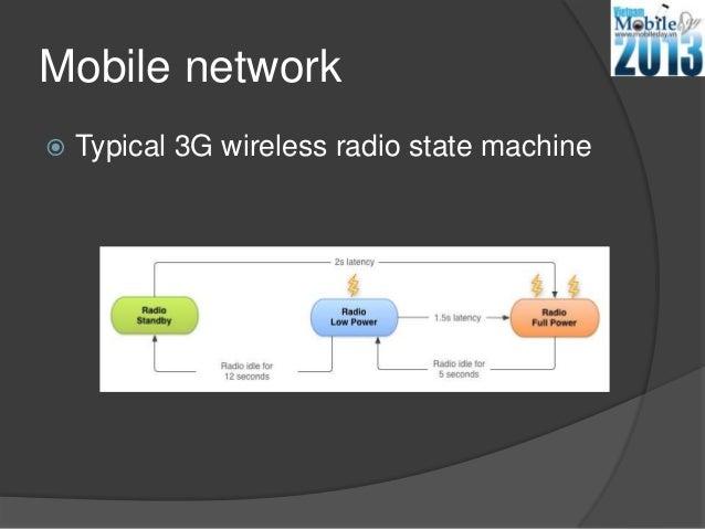 Mobile network Typical 3G wireless radio state machine