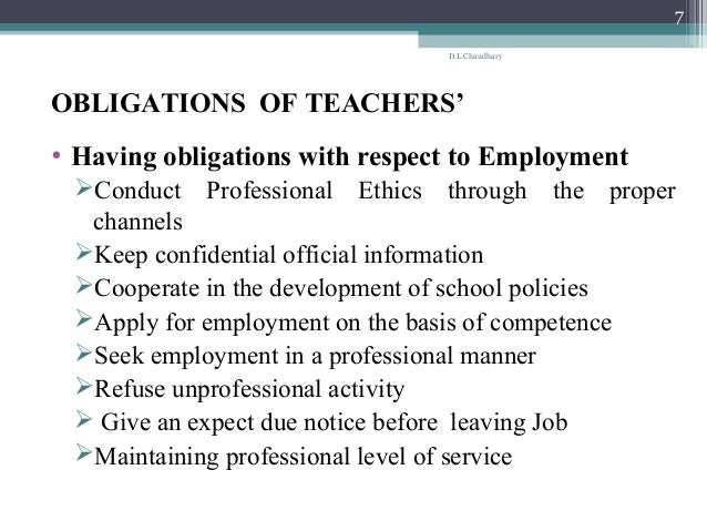 professional ethics for teachers pdf