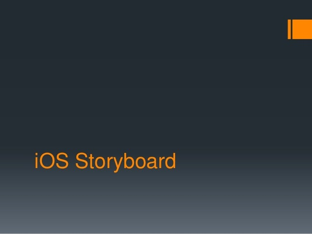 iOS Storyboard