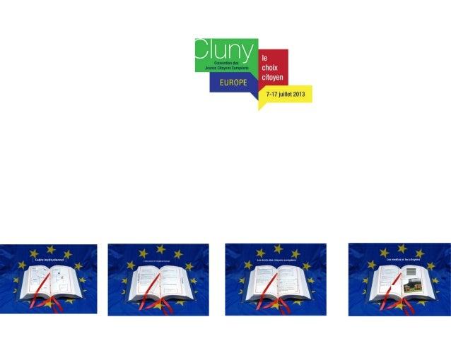 Presentation Cluny 2013