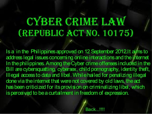 cyber crime act