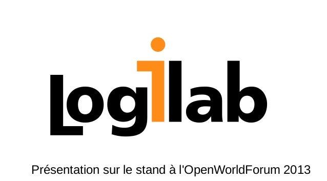 Présentation sur le stand à l'OpenWorldForum 2013