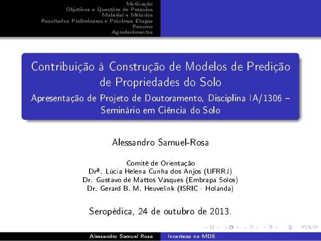 Motivação Objetivos e Questões de Pesquisa Material e Métodos Resultados Preliminares e Próximas Etapas Resumo Agradecimen...