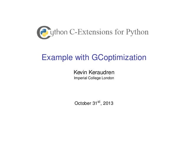 Example with GCoptimization Kevin Keraudren Imperial College London  October 31st , 2013