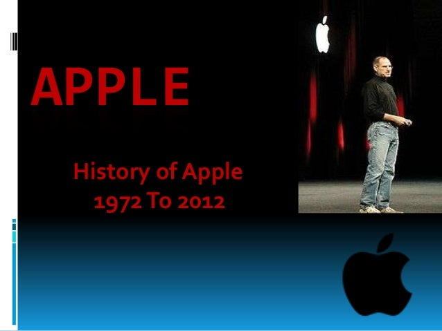 APPLE History of Apple 1972 To 2012