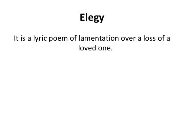 elegy poem examples - photo #31