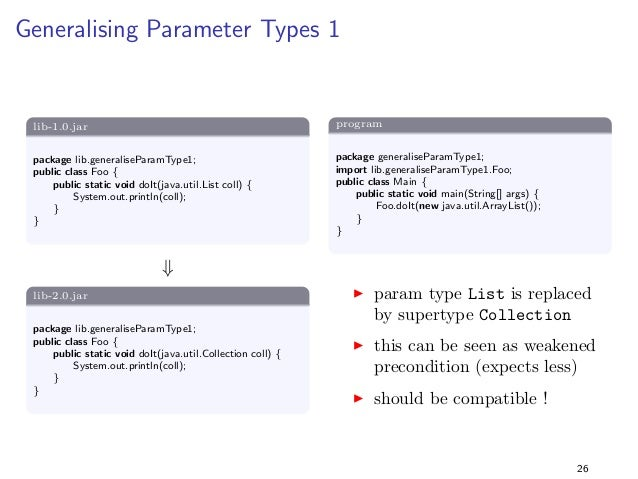 Specialising Return Types 2  lib-1.0.jar  package lib.specialiseReturnType2;  public class Foo f  public static long getAn...