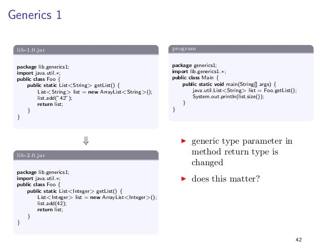 Change a Method from Static to Non-Static  lib-1.0.jar  package lib.static1;  public class Foo f  public static void foo()...