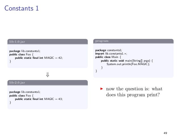 Static vs Non-Static  Solution  I the reason is the use of dierent byte code instructions:  I static methods are invoked u...