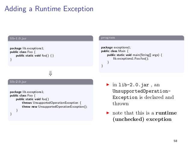 Generics 1  lib-1.0.jar  package lib.generics1;  import java.util.;  public class Foo f  public static ListString getList(...