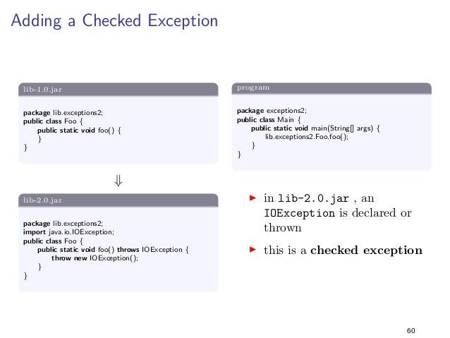 Generics 2  lib-1.0.jar  package lib.generics2;  import java.util.;  public class Foo f  public static ListString getList(...