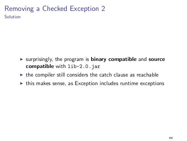 Constants 1  Solution  I the program prints 42 when it is executed with lib-1.0.jar  as expected  I but the program still ...
