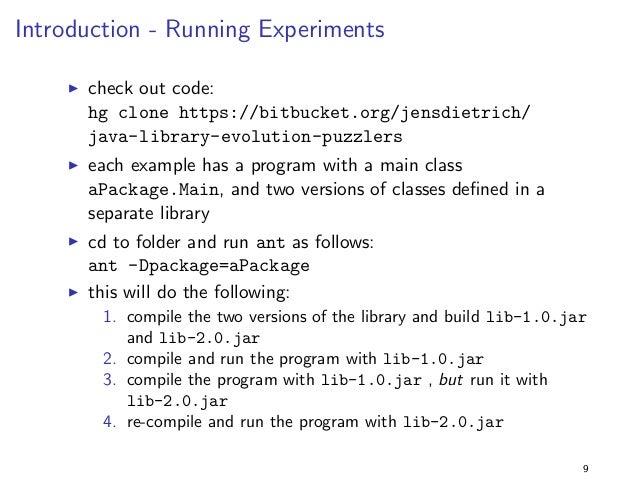 Introduction - Evolution Problems  I assume that a program references code de