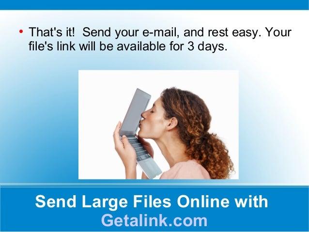 Send Large Files Online With Getalink Com