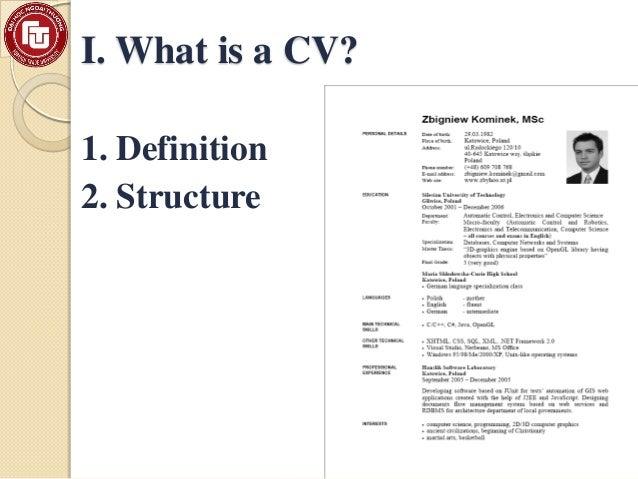 How to write a good CV?