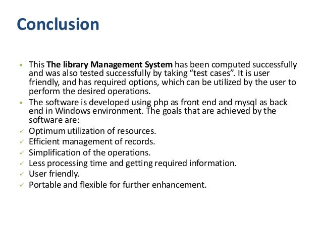Library management system ppt presentation free download