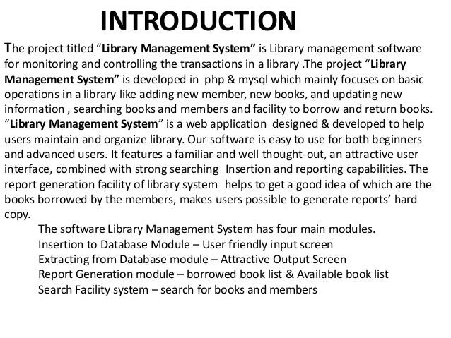 online library management system abstract