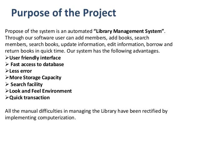 the characteristics and advantages of the automated library system Job design: characteristics interaction among jobs with the system 7 many organizations provide automated feedback systems.
