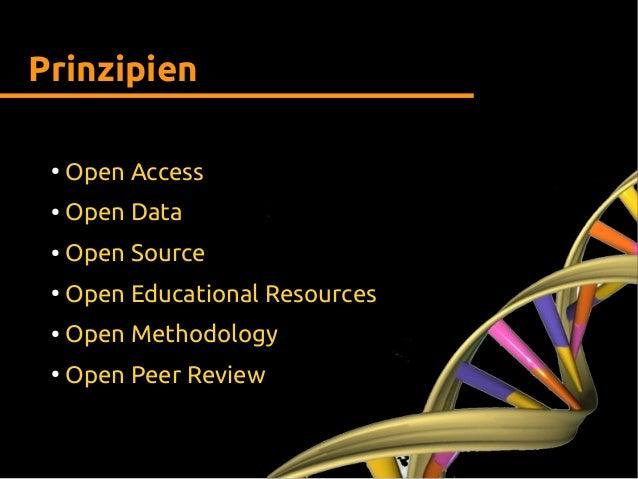 Prinzipien ● Open Access ● Open Data ● Open Source ● Open Educational Resources ● Open Methodology ● Open Peer Review