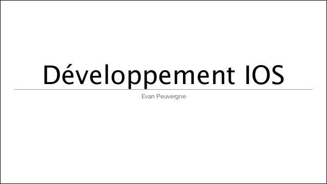 Développement IOS Evan Peuvergne