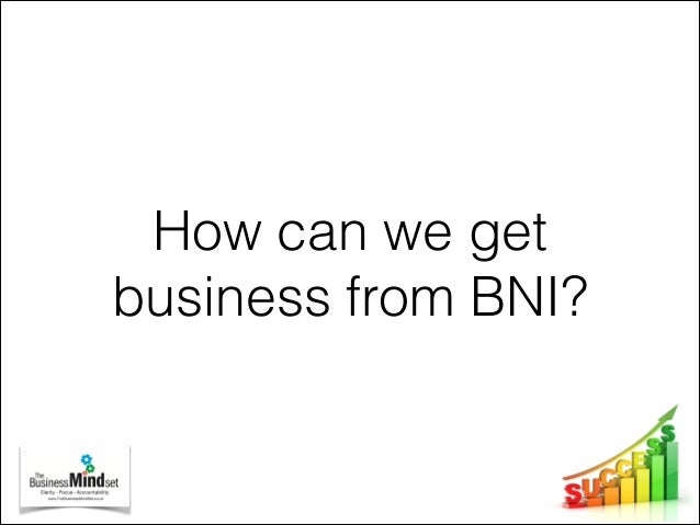 Growing your business through BNI