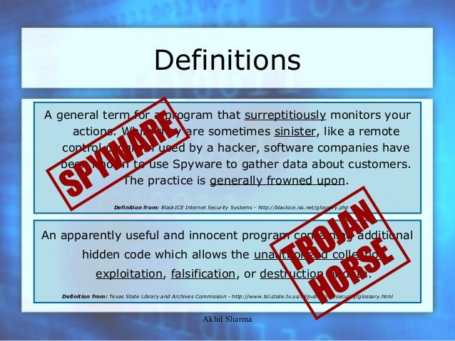 Spyware and Trojan Horses (Computer Security Seminar by ...